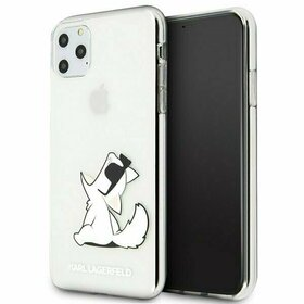Husa transparenta Karl Lagerfeld (Choupette Fun) pentru iPhone 11 Pro Max Transparent