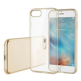 Husa Transparenta Rock pentru iPhone 7/iPhone 8 Gold