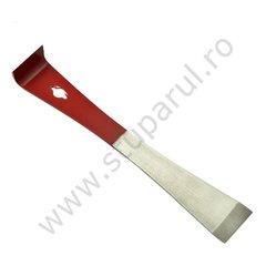 Dalta apicola tip L inox vopsita jumatate rosu