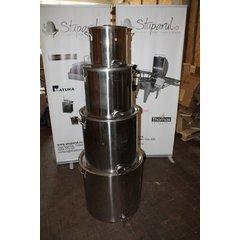 STERS_Maturator inox alimentar cu manere si canea inox 100 kg