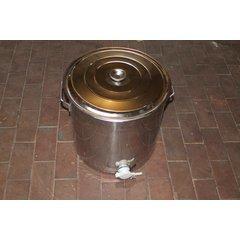 Maturator inox alimentar cu manere si canea plastic 50 kg