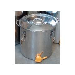 Maturator inox cu manere si capac cu inchidere 100 kg