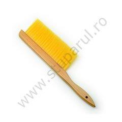 Perie apicola maner lemn par sintetic rand simplu