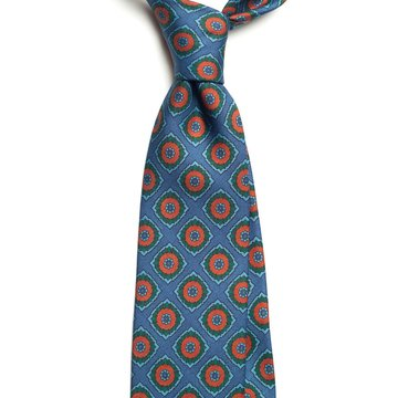 Ancient madder silk tie