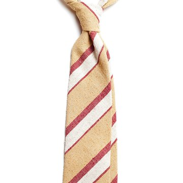 Bar Stripe Raw Silk Tie