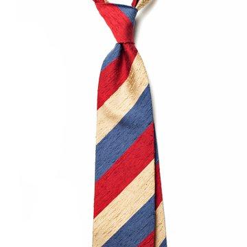 Block Stripe Shantung Tie