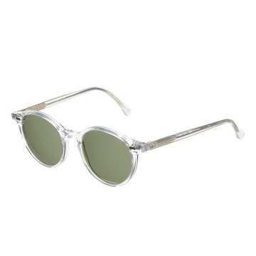 CRAN TRANSPARENT FRAME - BOTTLE GREEN LENSES
