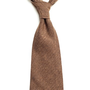 Donegal wool tie - brown