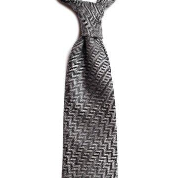 Herringbone wool tie