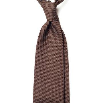 Garza Fina Grenadine Silk Tie - Brown