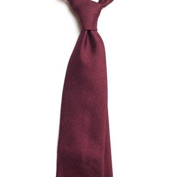 Garza Fina Grenadine Silk Tie - Burgundy