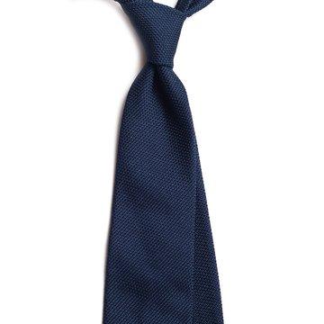 Garza Fina Grenadine Silk Tie - Navy