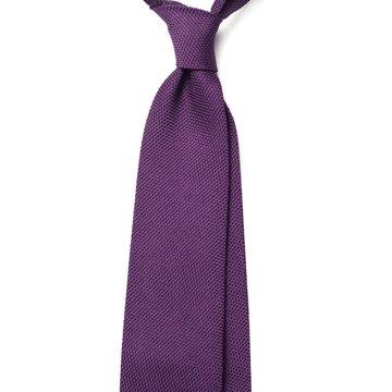 Garza Fina Grenadine Silk Tie - Purple