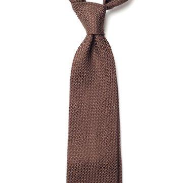 Garza Grossa Grenadine Silk Tie - Brown