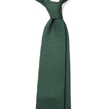 Garza Grossa Grenadine Silk Tie - Green