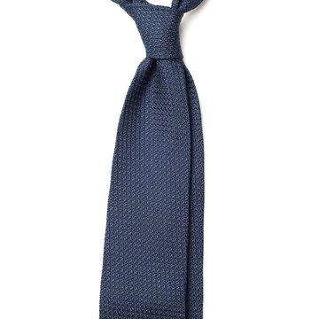 Garza Grossa Grenadine Silk Tie - Navy