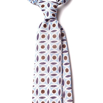 Geometric Linen Tie