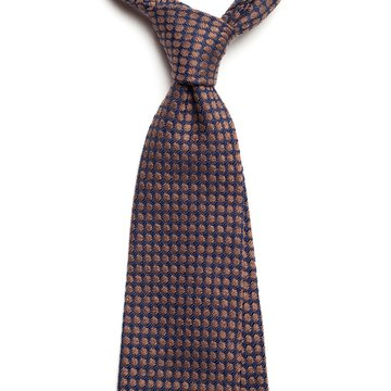 Geometric wool tie