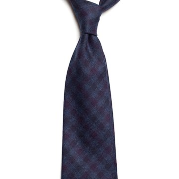 Gingham cashmere tie