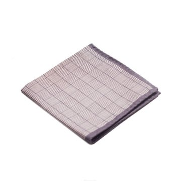 Glen check Wool Pocket square