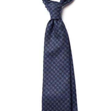 Guncheck Wool Tie