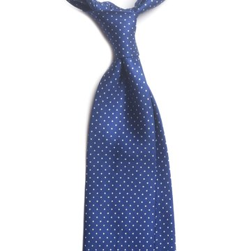 Handrolled 7-Fold Silk Tie Pin Dot