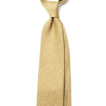 Handrolled Linen Tie - Green