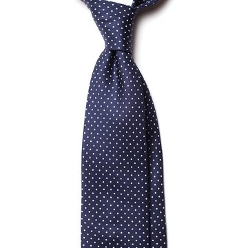 Handrolled Silk Tie - Navy