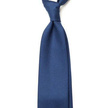 Handrolled Wool Tie - Blue
