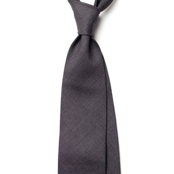 Handrolled Wool Tie - Gray