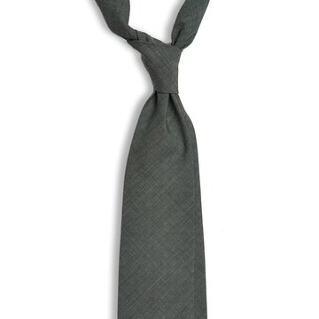 Handrolled Wool Tie - Grey
