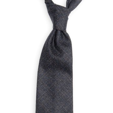 Handrolled Wool Tie - Navy