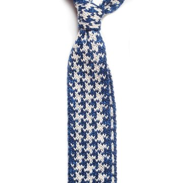 Knit cotton tie