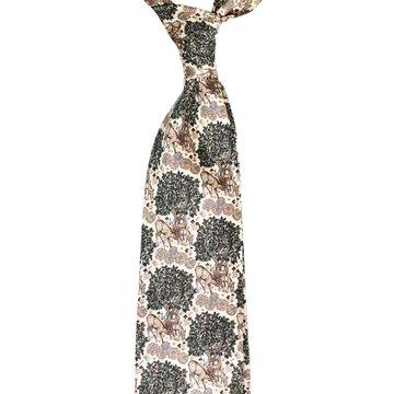 Large Motif Silk Tie