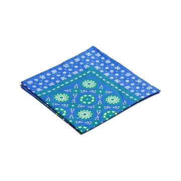 Linen floral pocket square