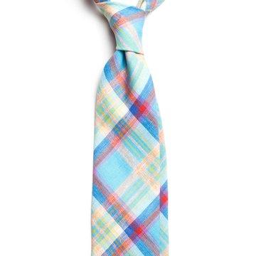 Madras linen tie