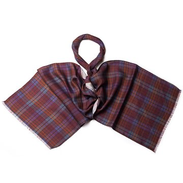 Madras wool scarf