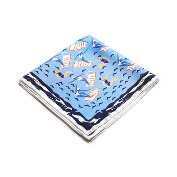 Nautical silk pocket square