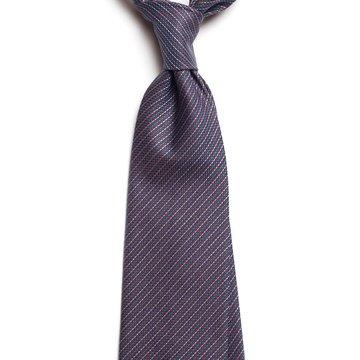 Pin stripe cotton tie