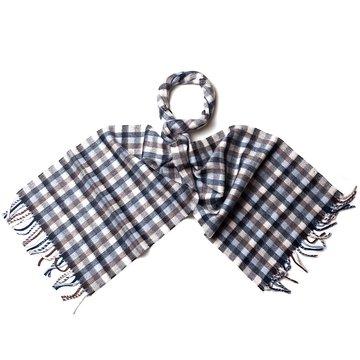 Plaid cashmere scarf