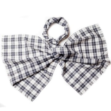 Plaid wool scarf