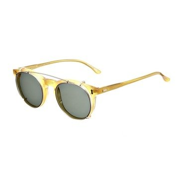 PLEAT HONEY FRAME - BOTTLE GREEN LENSES