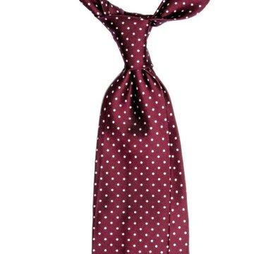 Polka Dots Seven Fold Silk Tie