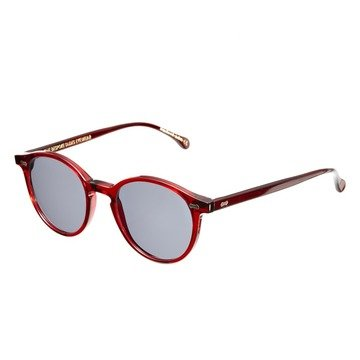 RED AMARANTH FRAME - GRADIENT GREY LENSES