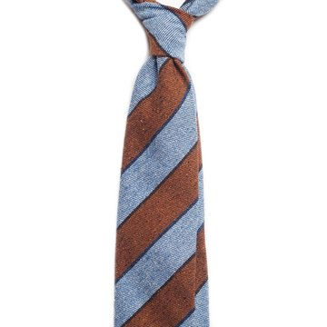 Regimental stripes wool tie