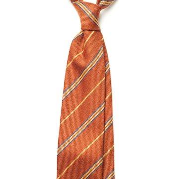Repp Stripe Cashmere Tie