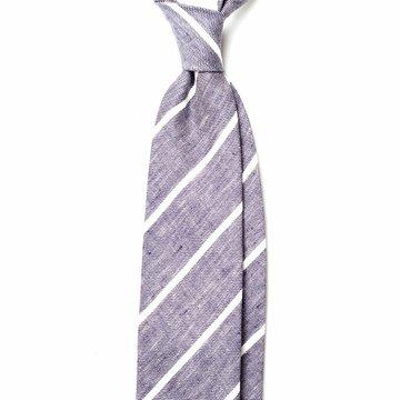 Repp Stripe Linen Tie
