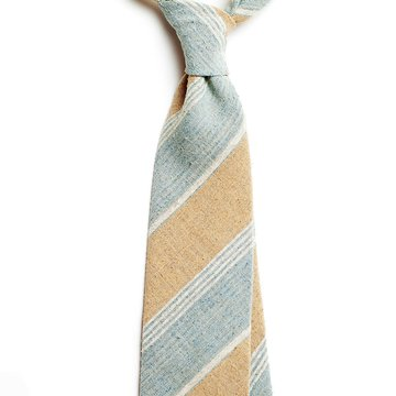 Repp Stripe Raw Silk Tie
