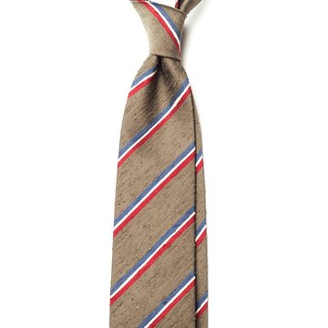 Repp Stripe Shantung Tie