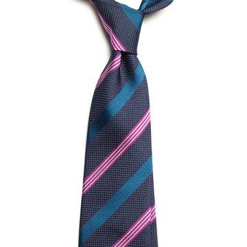 Repp stripe silk tie